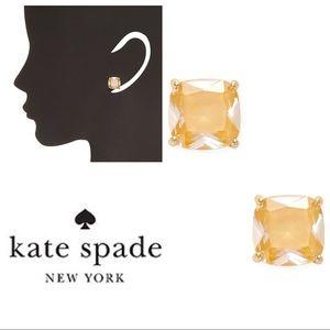 KATE SPADE Saffron Yellow Crystal Stud Earrings